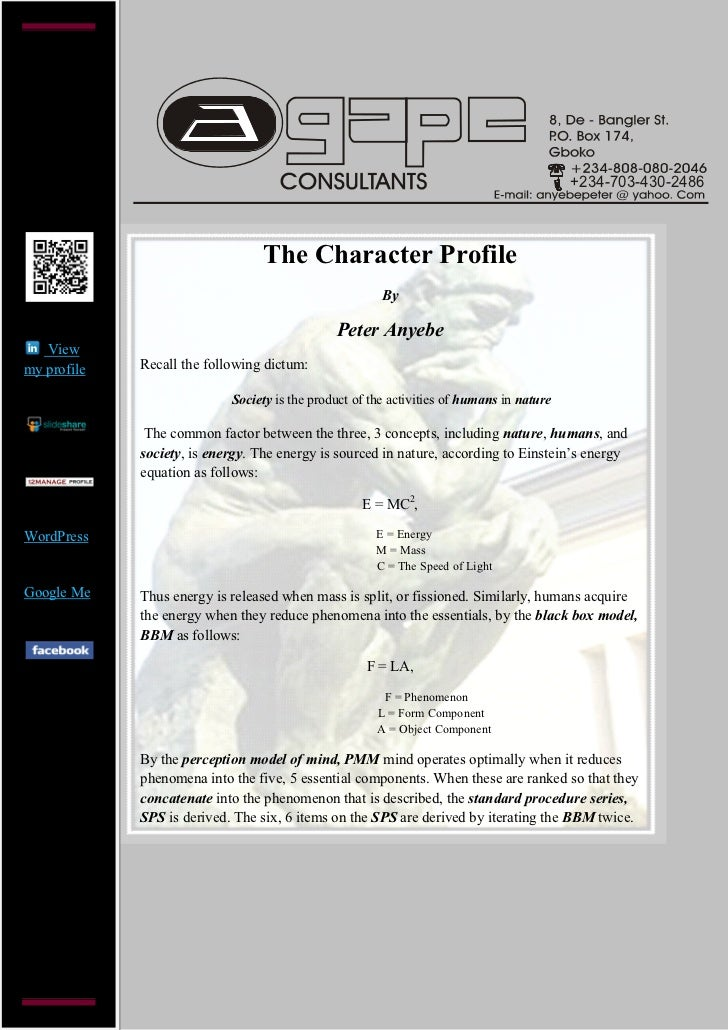 +234-703-430-2486                                 The Character Profile                                                   ...