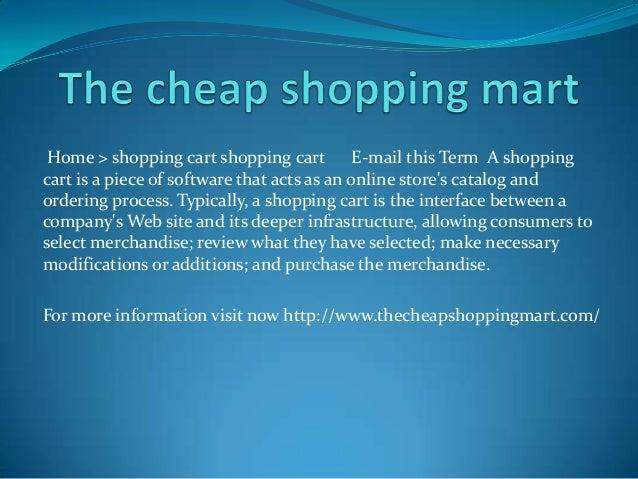 The cheap shopping mart