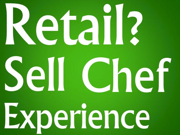 Sell Chef Experience