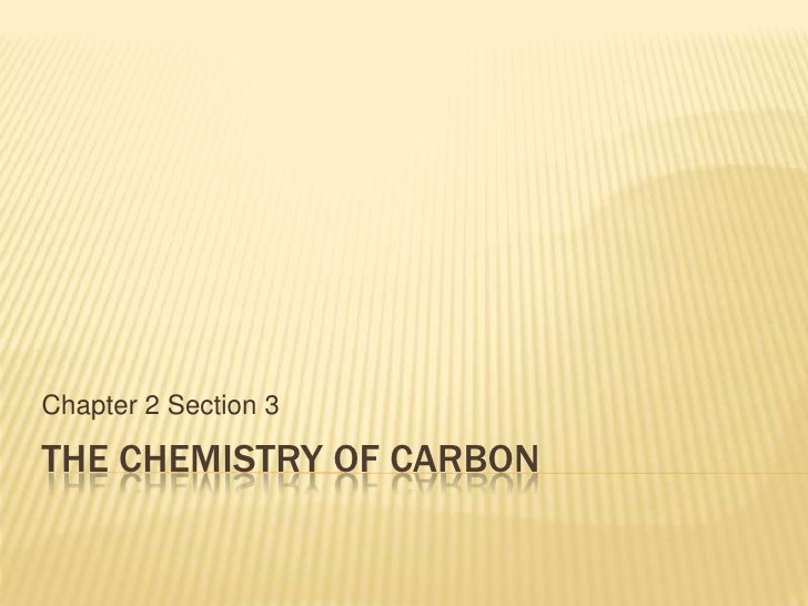 The chemistry of carbon notes