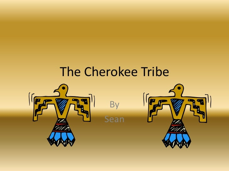 The Cherokee Tribe        By       Sean