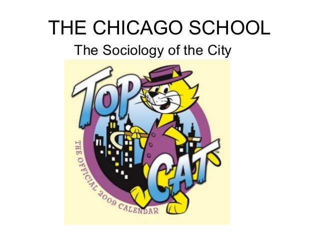 THE CHICAGO SCHOOL  The Sociology of the City