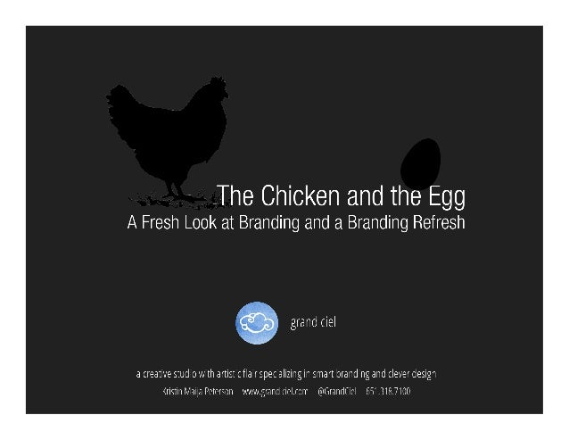 The Chicken and The Egg: A Fresh Look At Branding and A Branding Refresh