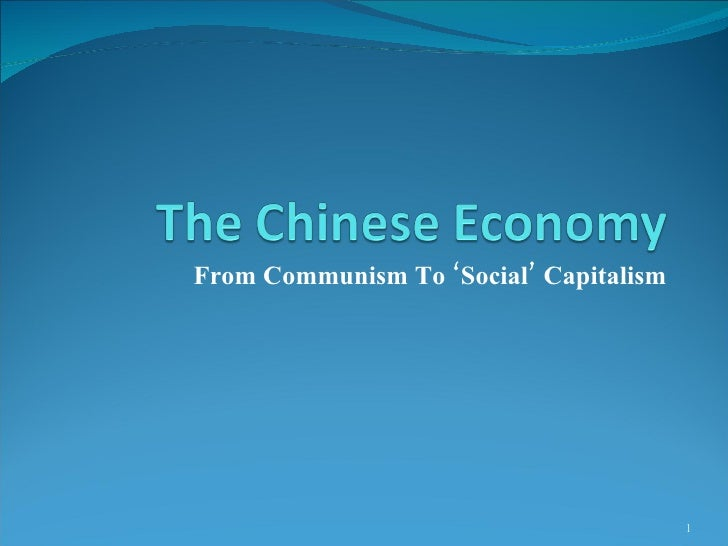 From Communism To 'Social' Capitalism
