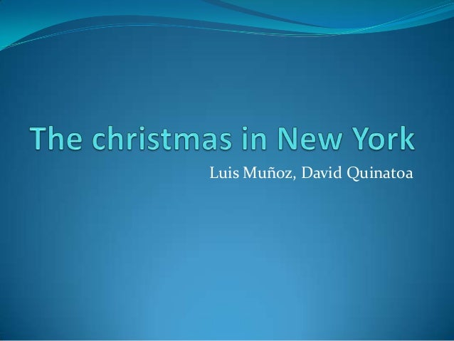 The crhristmas in New York