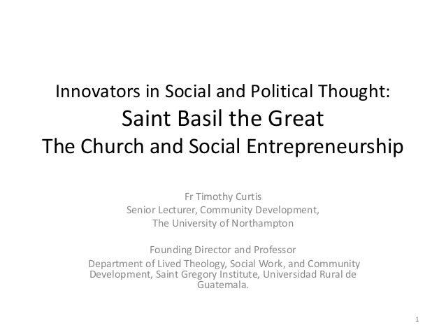 The church and social entrepreneurship