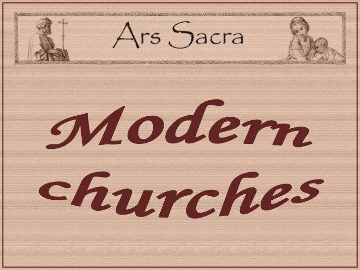 Modern churches<br />