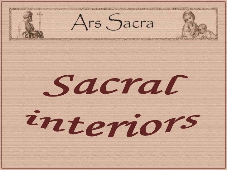 Sacral <br />interiors<br />