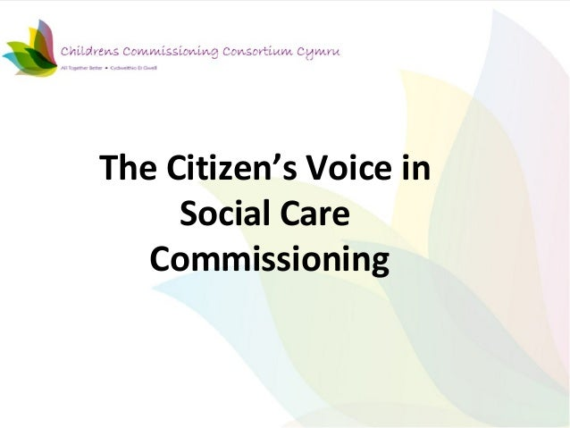 The citizen's voice in social care commissioning