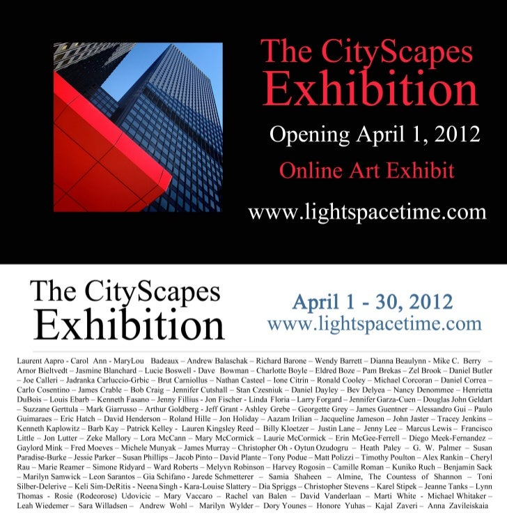 The Cityscapes Art Exhibition Event Postcard