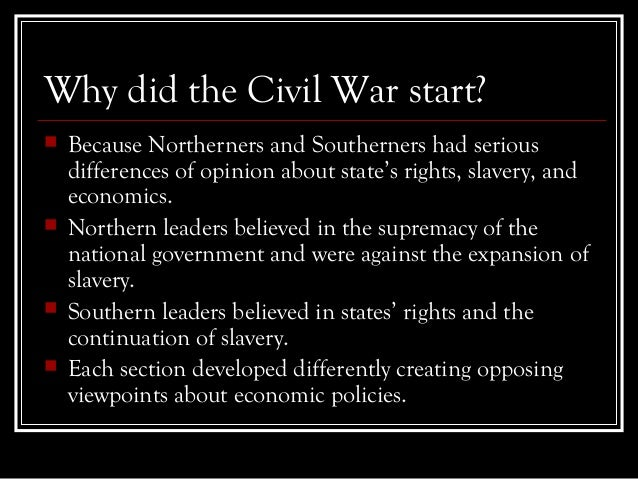 why did the north prevail in the civil war When the tide turned in the civil war the north did poorly during the first one hand hit the crux of the north's strategic problem in the war: why does the.