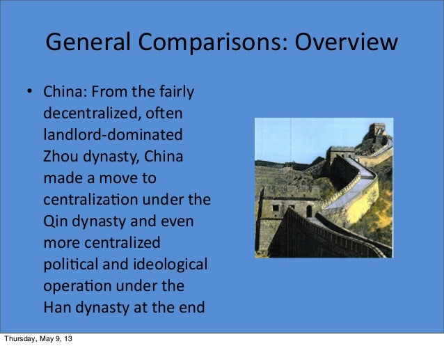 Comparisons between classical china and persia?