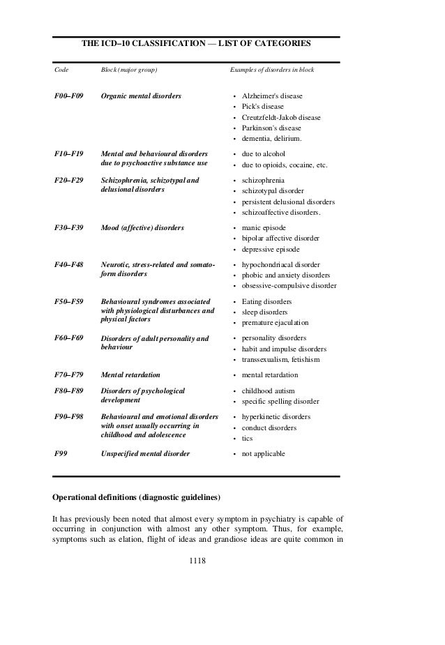 classification of mental disorders Dsm-5 diagnostic classification https:  note for all mental disorders due to another medical condition: indicate the.