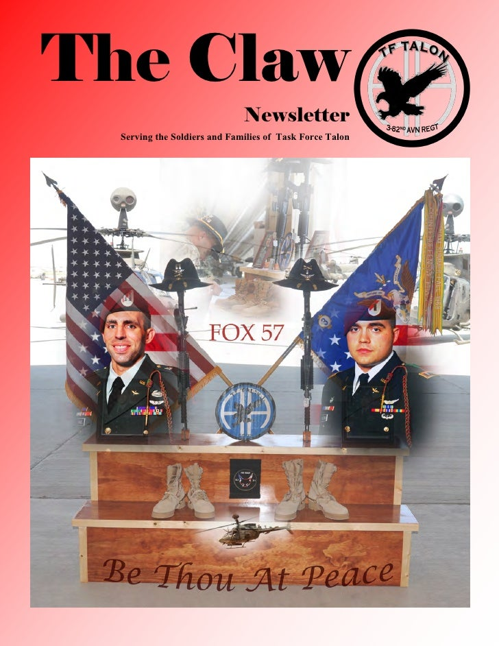 The Claw                              Newsletter  Serving the Soldiers and Families of Task Force Talon