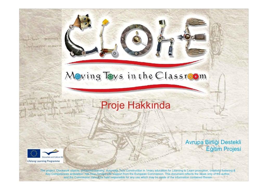CLOHE project presentation Turkish