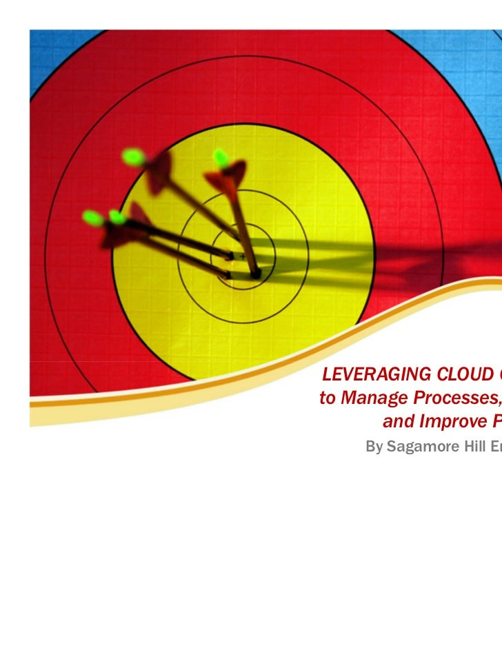 LEVERAGING CLOUD COMPUTINGto Manage Processes, Share Data       and Improve Performance     By Sagamore Hill Enterprises, ...