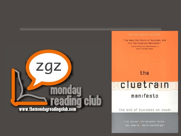 TMRC-Zaragoza: The Cluetrain Manifesto