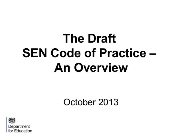 The code of practice overview october 2013