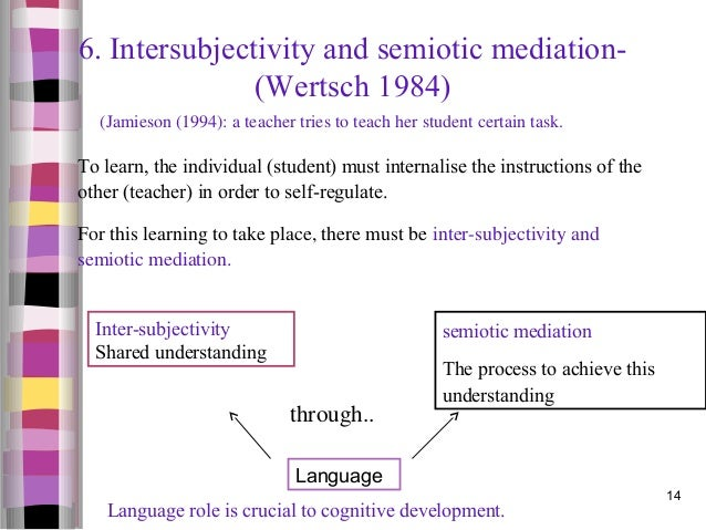 What is meant by 'semiotic mediation'?