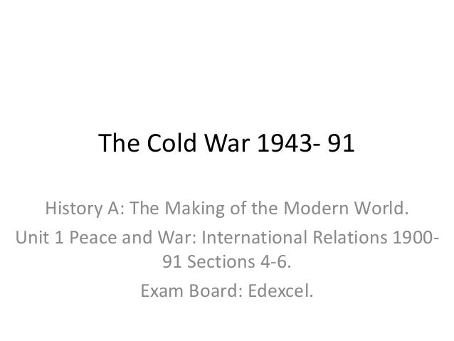 Write my the cold war essay