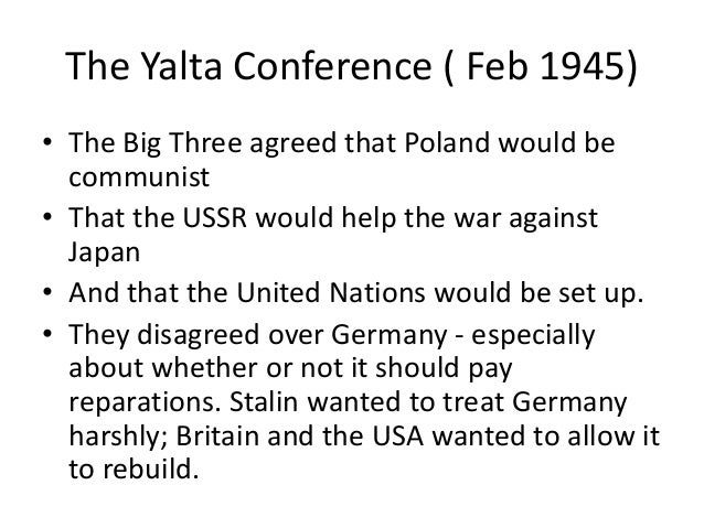 an introduction to the history of the yalta conference Yalta conference questions including what was the yalta conference and how did the yalta conference deal with polish and german questions go log in sign up how did the yalta conference change history.