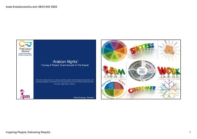www.thecolourworks.com 0845 045 0933 Inspiring People, Delivering Results 1 Inspiring People, Delivering Results 'Arabian ...