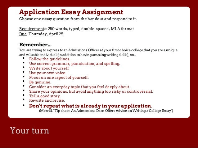 Is the Common App essay supposed to be single or double spaced?