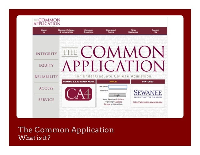 double spacing common app essays