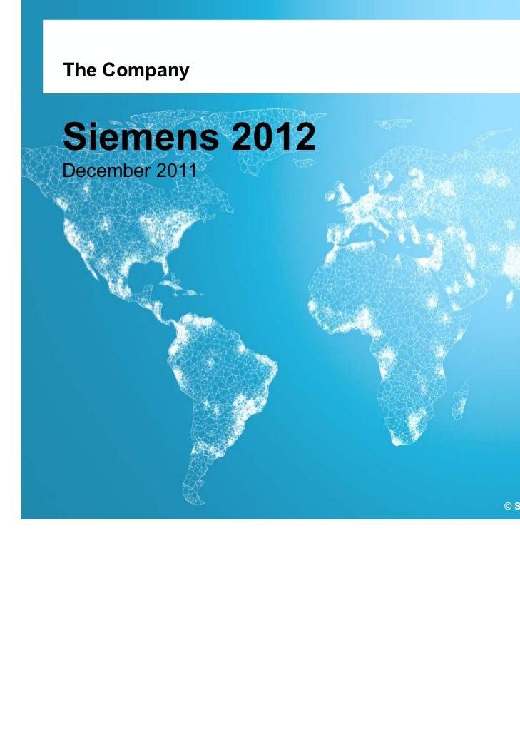 Presentación Corporativa Siemens 2012