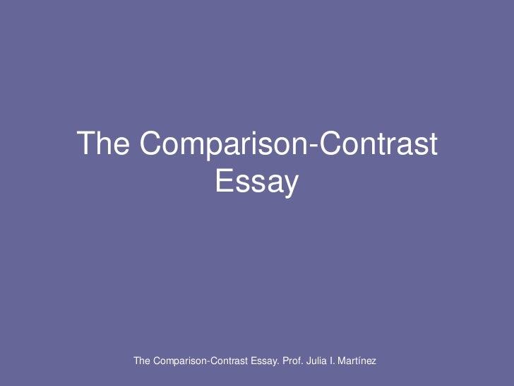 compare and contrast essay block organization