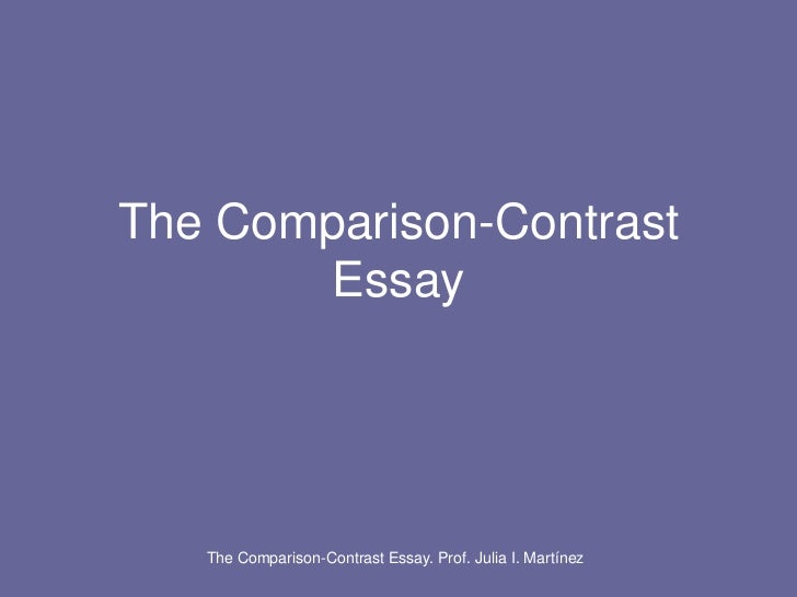 a comparison contrast essay