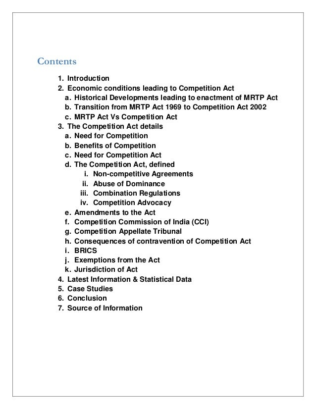 competition act case study Cases relating to the legislation to prevent unfair terms in consumer contracts5   by the competition act 1998 and the enterprise act 2002, as amended  harris,  rid and li, q (2007) firm level empirical study of the.