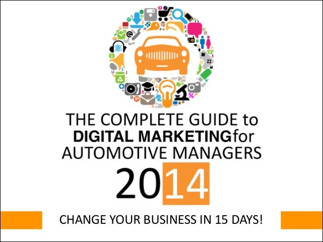 CHANGE YOUR BUSINESS IN 15 DAYS!