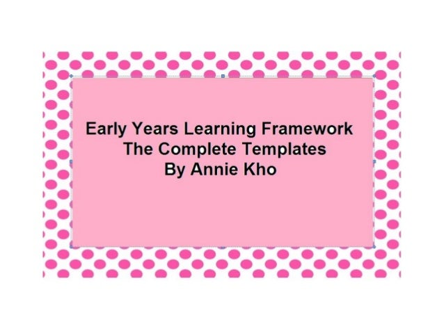 early years learning framework planning templates - the complete templates