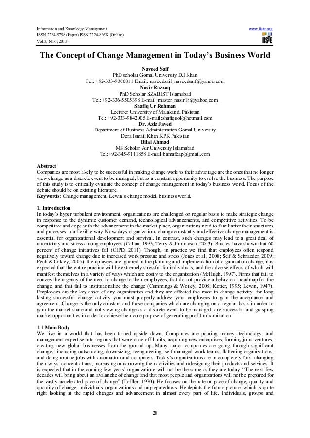 Information and Knowledge Management www.iiste.org ISSN 2224-5758 (Paper) ISSN 2224-896X (Online) Vol.3, No.6, 2013 28 The...