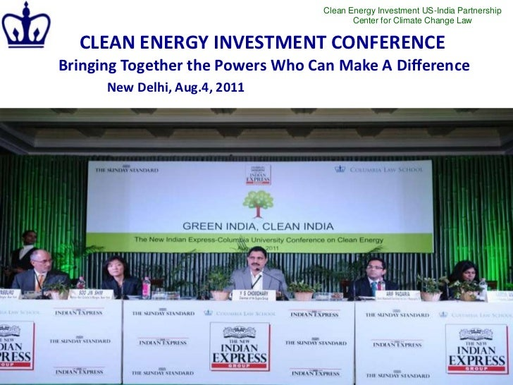 Clean Energy Investment US-India Partnership                                         Center for Climate Change Law  CLEAN ...
