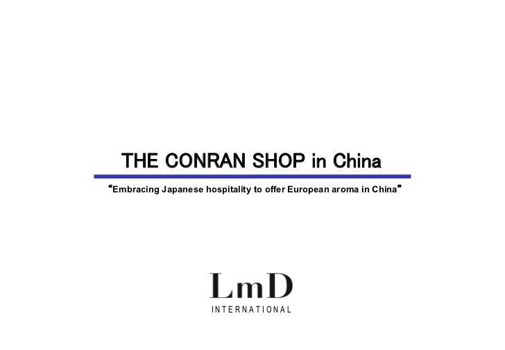 The CONRAN shop in china