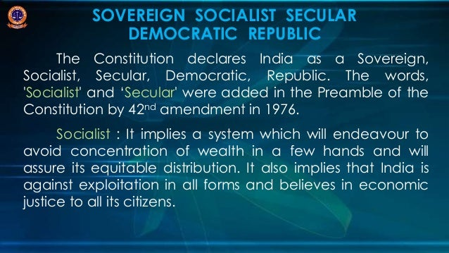 India: A Socialist, Secular and Democratic Country