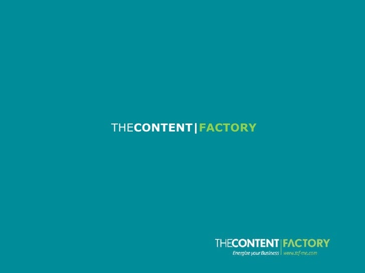 THECONTENT|FACTORY overview