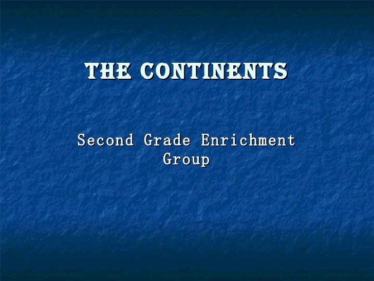 Home-Continents-Group 1