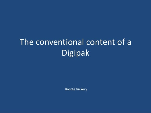 The conventional content of a digipak