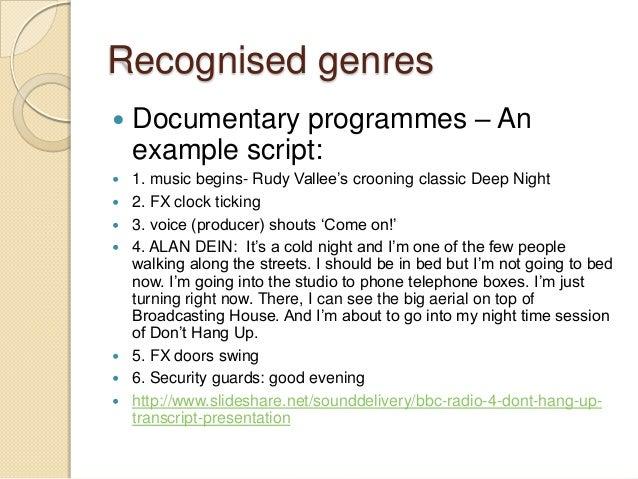 Documentary mode
