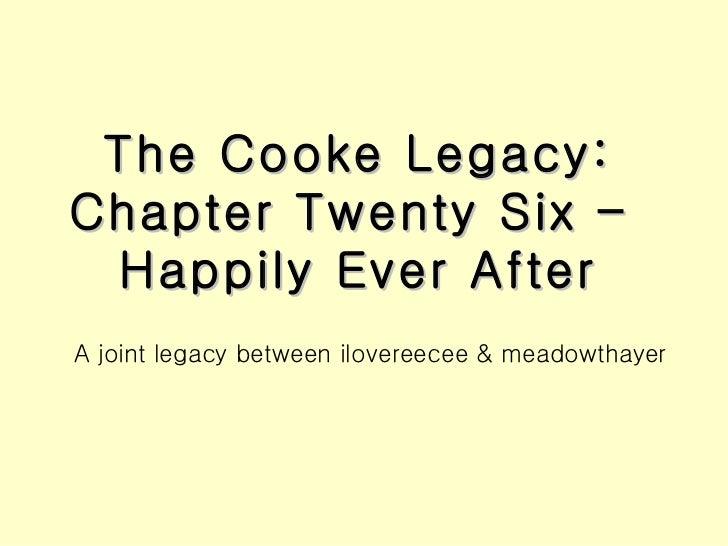 The cooke legacy chapter twenty six