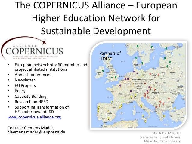 The copernicus alliance – european higher education network