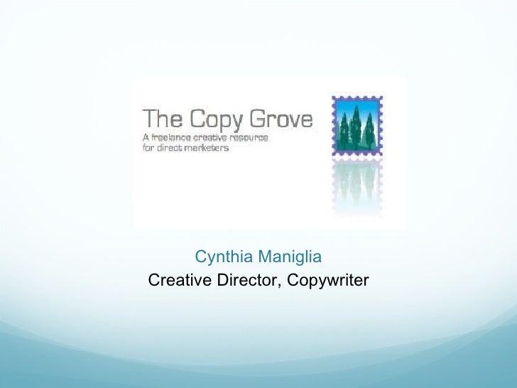 The Copy Grove, Cynthia Maniglia 9 28 11 Copy