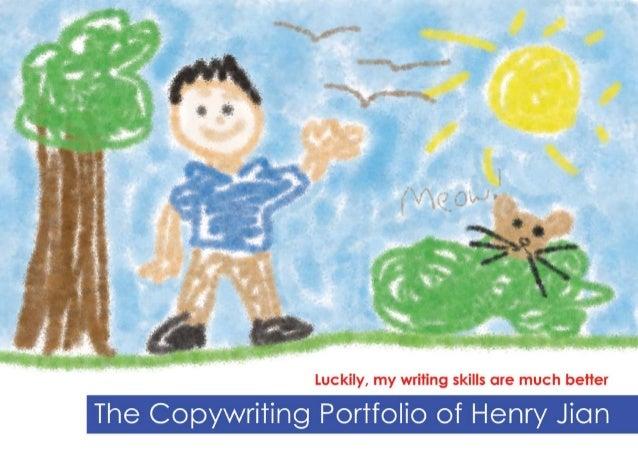 The Copywriting Portfolio of Henry Jian (Sample #1)
