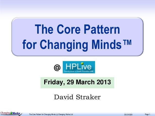 The Core Pattern                 for Changing Minds™                                                  @                   ...