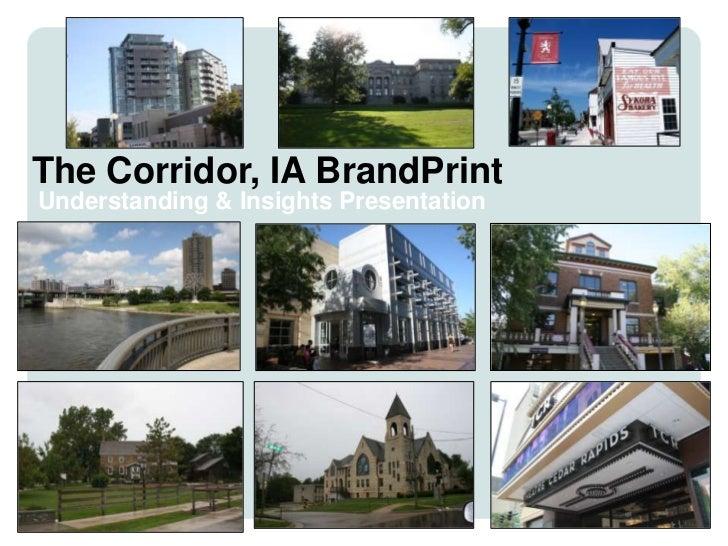 Brand Understandings and Insights - The Corridor, Iowa