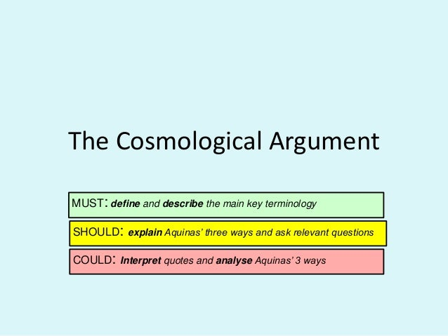 Cosmological Argument Essay