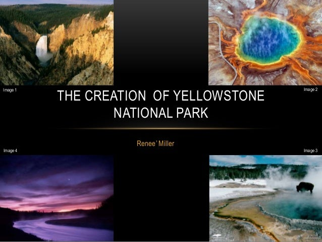 Renee' MillerTHE CREATION OF YELLOWSTONENATIONAL PARKImage 1 Image 2Image 3Image 4